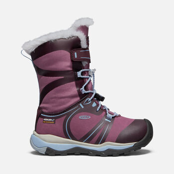 Younger Kids' Terradora Winter Waterproof Boots in WINESTASTING/TULIPWOOD - large view.