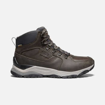 Men's Innate Leather Waterproof Hiking Boots in ALMOND - large view.