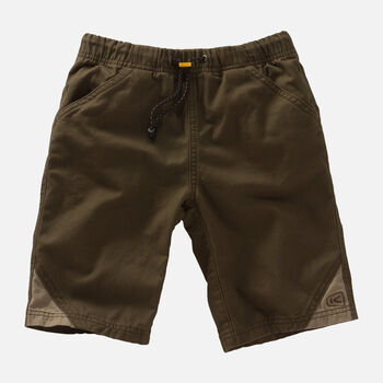 Kids' Slacker Short in Olive Green/Khaki - large view.