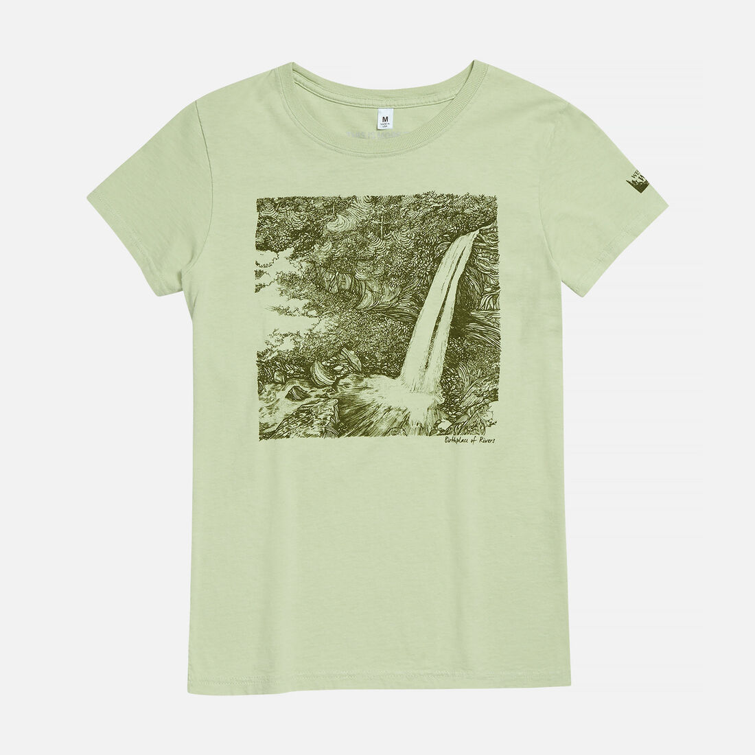 Women's Birthplace of Rivers, WV T-Shirt in Green Pea - large view.