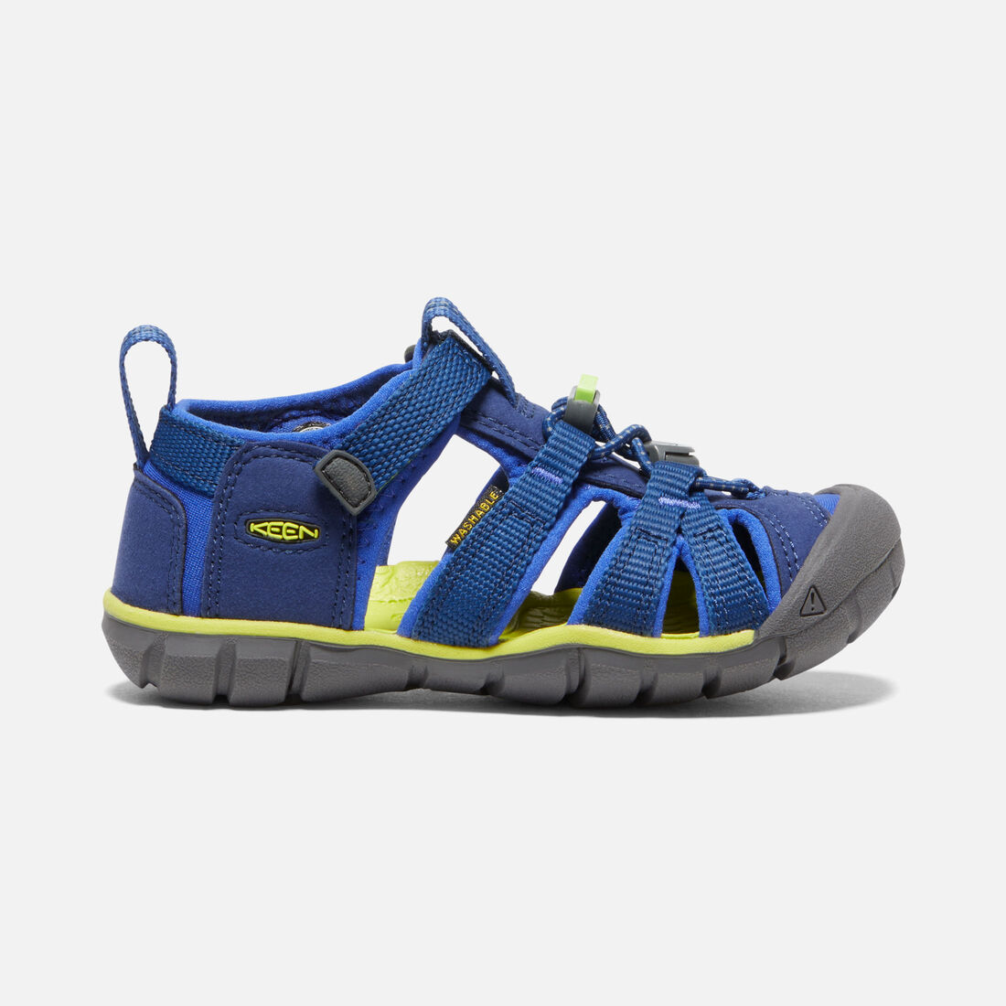 Little Kids' Seacamp II CNX in Blue Depths/Chartreuse - large view.
