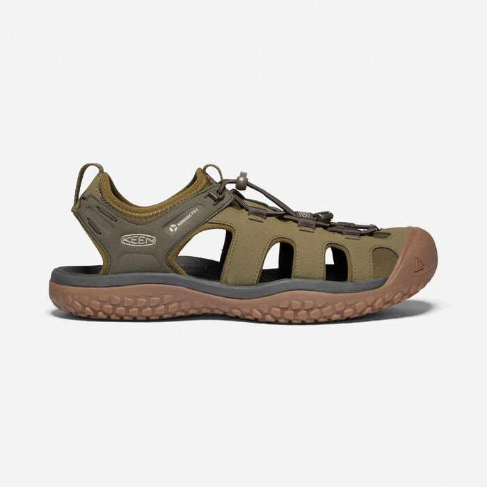 Men's SOLR Sandal in Dark Olive/Taupe - large view.