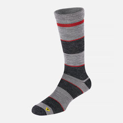 Men's Stripe Lite Crew in Charcoal/Red - small view.