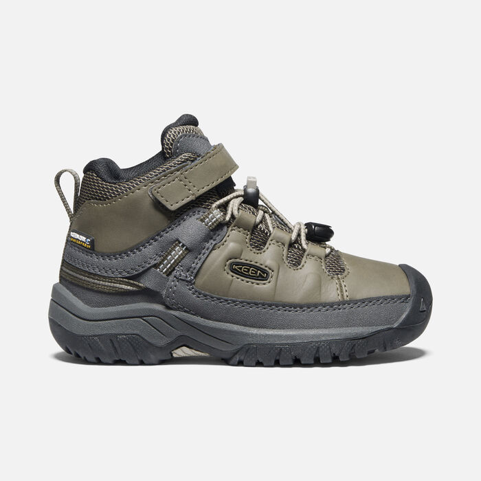 Younger Kids' Targhee Waterproof Hiking Boots in Bungee Cord/Dark Olive - large view.