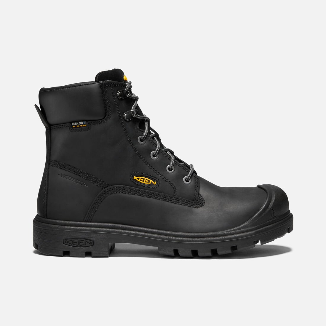 "Men's BALTIMORE 6"" Waterproof Boot (Steel Toe) in Black - large view."