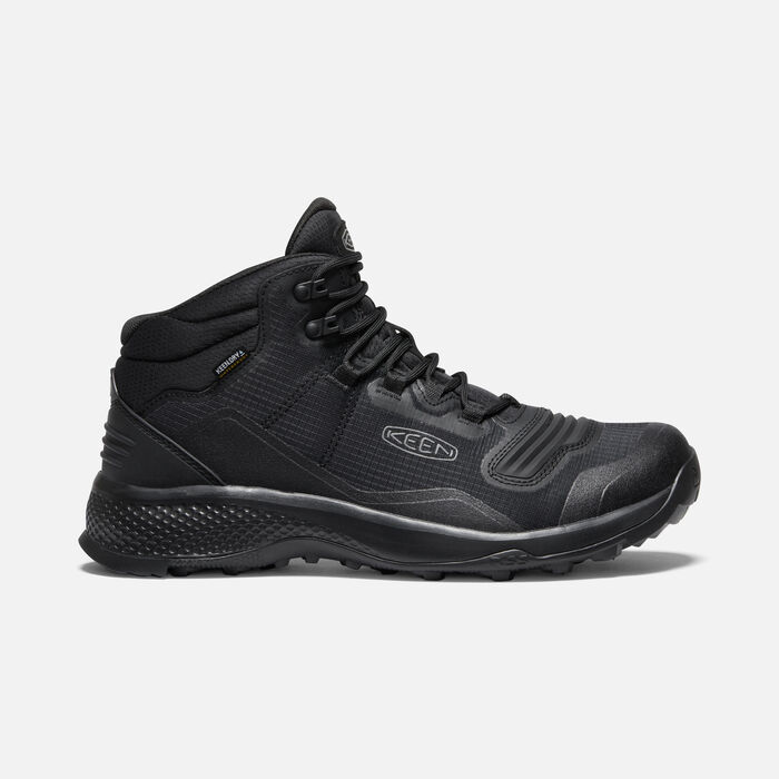 Men's Tempo Flex Waterproof Hiking Trainer Boots in Triple Black - large view.