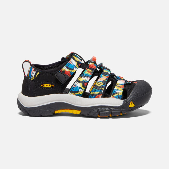 Little Kids' Newport H2 in Black/Multi - large view.