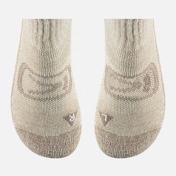 Women's Targhee Lite Crew Socks in Brown - large view.