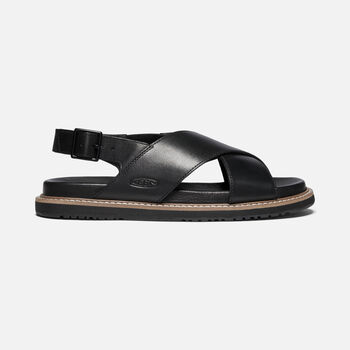 Women's Lana Cross Strap Casual Sandals in Black/Black - large view.