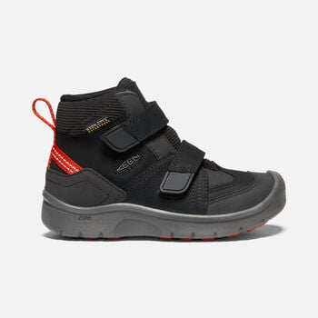 Little Kids' HIKEPORT Strap Waterproof Mid in BLACK/BRIGHT RED - large view.