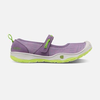 Younger Kids' Moxie Mary Jane, Ballet Flats in Purple Sage/Greenery - large view.