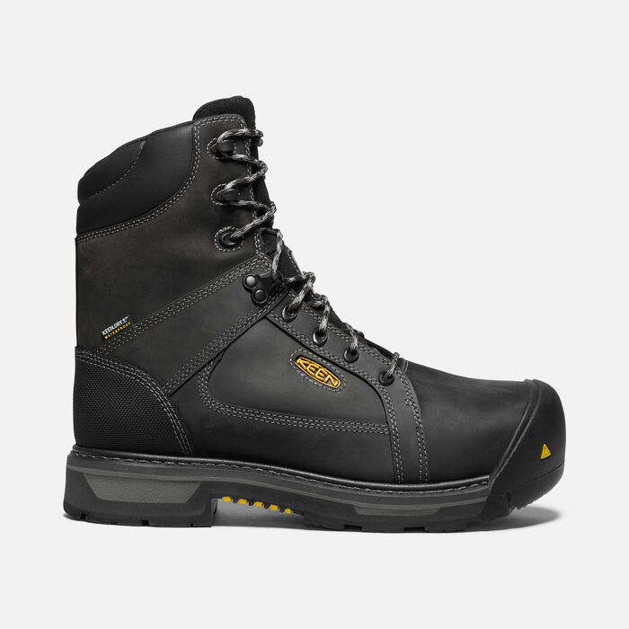 "CSA Oakland 8"" Waterproof Boot Pour Homme in BLACK/GARGOYLE - large view."