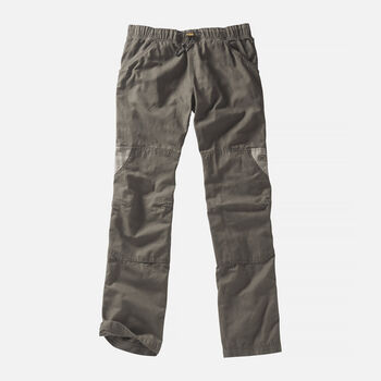 Men's Slacker Casual Trousers in Olive Green/Khaki - large view.