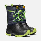 Big Kids' LUMI Waterproof Winter Boot in BLUE NIGHTS/GREENERY - small view.