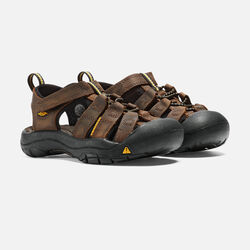 YOUNGER KIDS' NEWPORT PREMIUM  SANDALS in Dark Brown - small view.