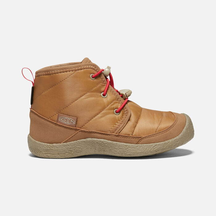 Big Kids' Howser II Waterproof Chukka in Toasted Coconut/Red Carpet - large view.
