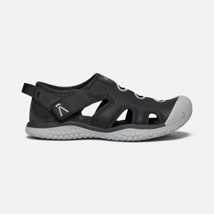 Big Kids' Stingray Sandal in Black/Drizzle - large view.