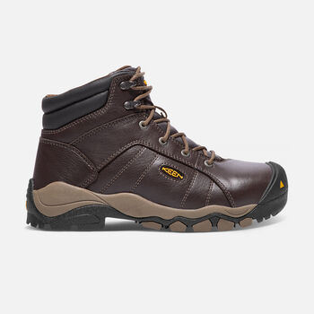 "Women's SANTA FE 6"" Boot (Aluminum Toe) in Cascade Brown - large view."