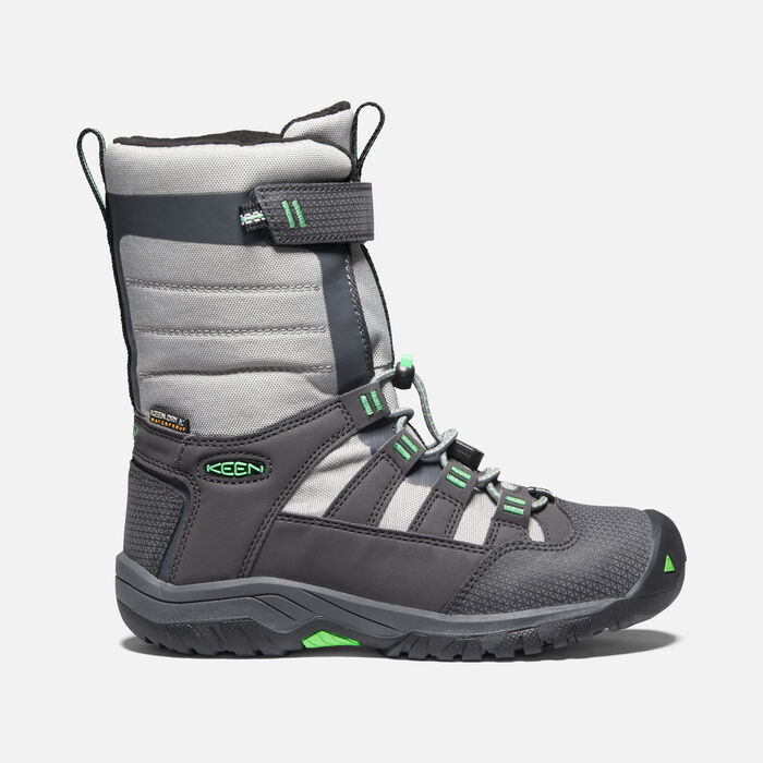 Little Kids' Winterport NEO Waterproof Boot in Magnet/Irish Green - large view.