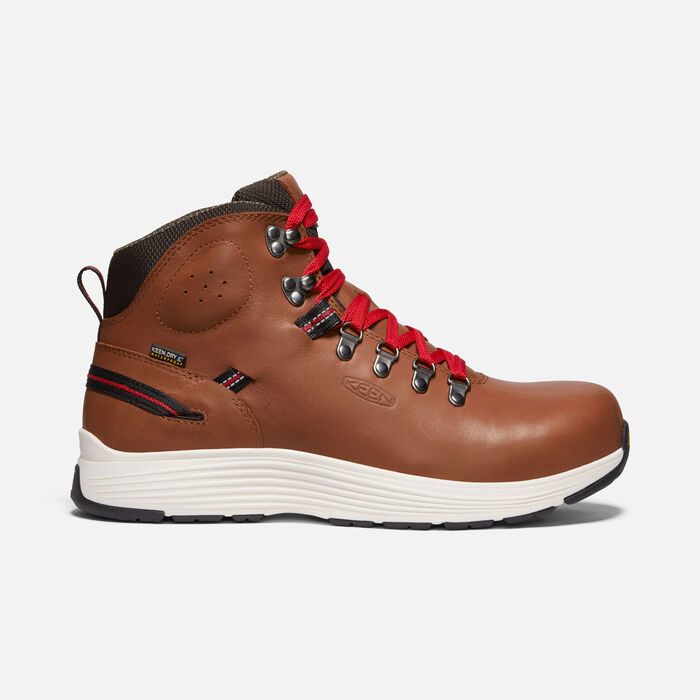 "Men's CSA Manchester 6"" Waterproof Boot (Aluminum Toe) in RUSTIC BROWN/CASCADE BROWN - large view."