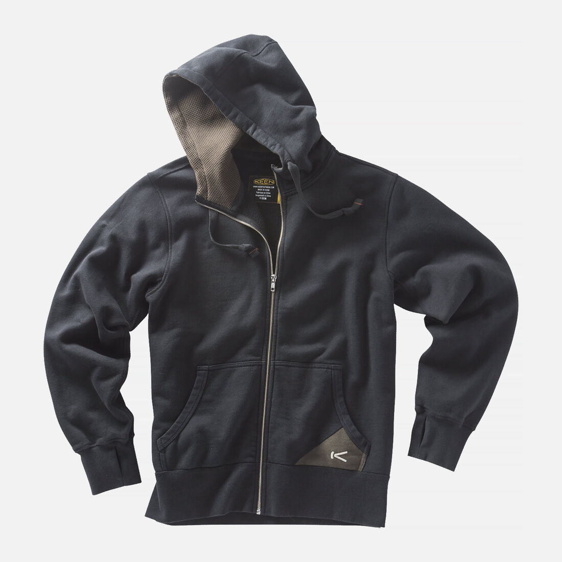 Men's Bridgeport Hoodie in Black/Black Olive - large view.