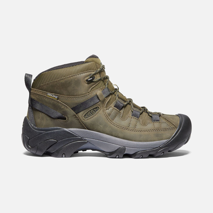 TARGHEE II MID WP POUR HOMME in Dark Olive/Black - large view.