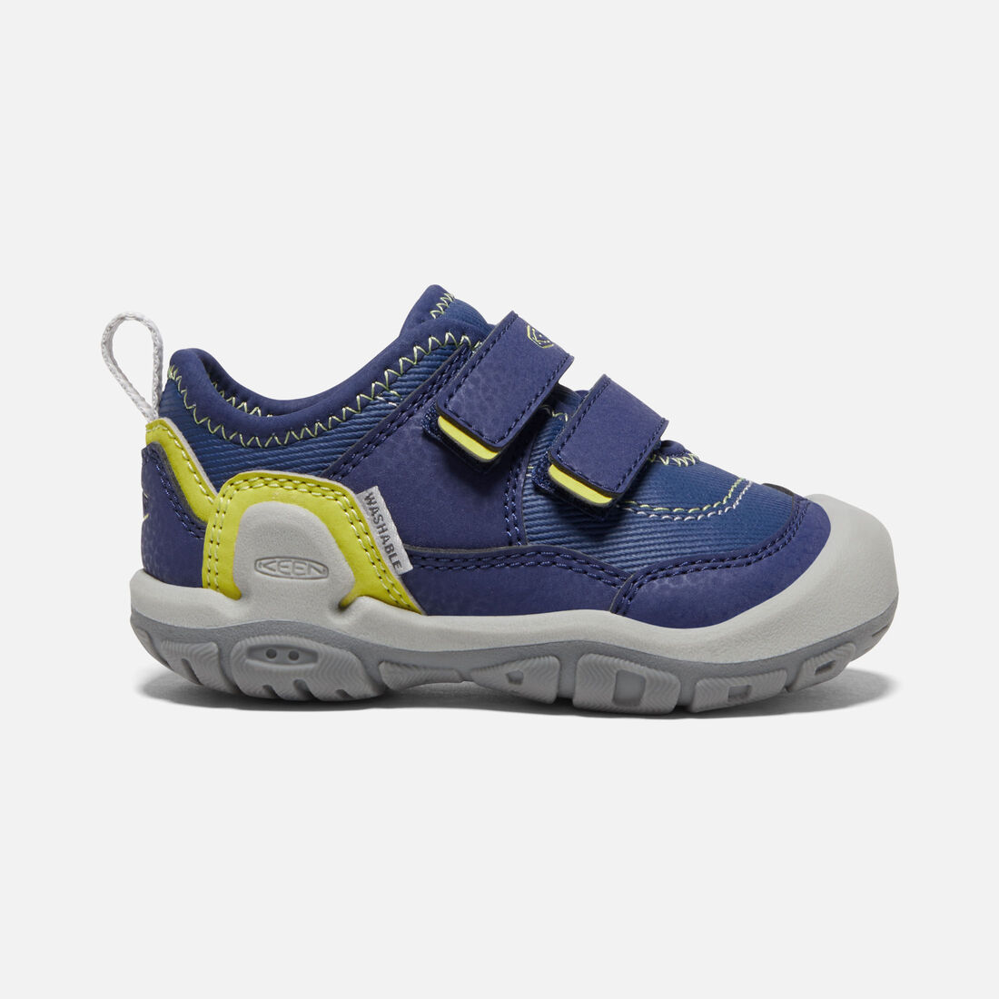 Toddlers' Knotch Hollow Double Strap Sneaker in Blue Depths/Evening Primrose - large view.