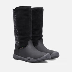 Big Kids' MOXIE TALL Waterproof Boot in Black/Magnet - small view.