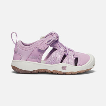 Toddler's MOXIE SANDALS in LUPINE/VAPOR - large view.