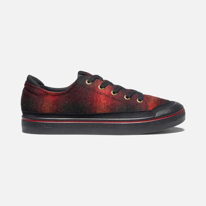 Women's Elsa IV Sneaker in Red Plaid/Black - large view.