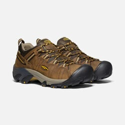 MEN'S TARGHEE II WIDE FIT HIKING SHOES in Cascade Brown/Golden Yellow - small view.