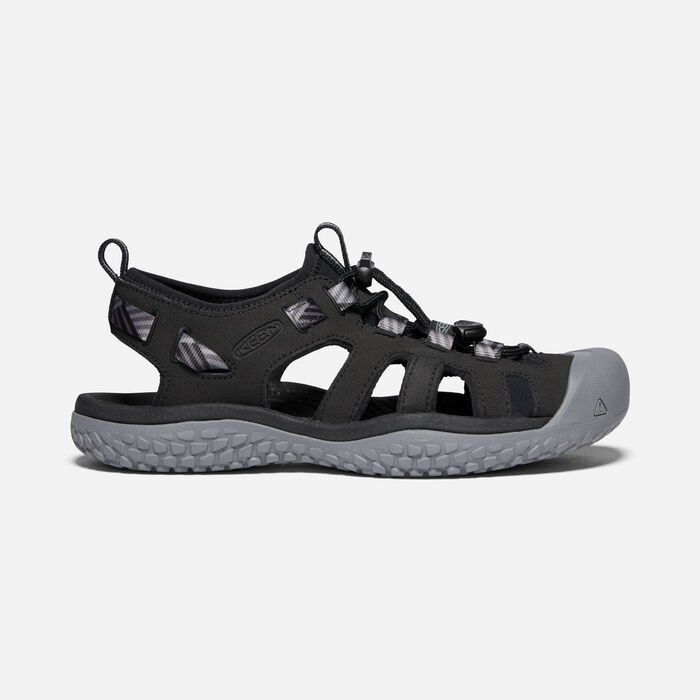 SOLR SANDAL POUR FEMME in Black/Steel Grey - large view.