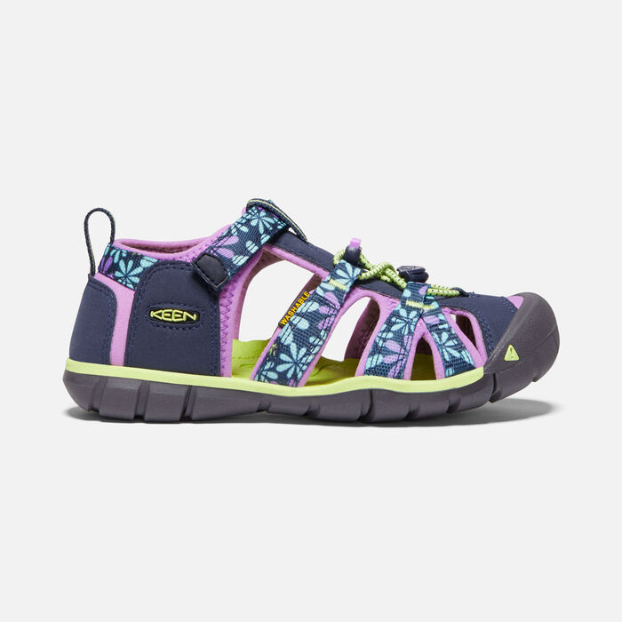 Older Kids' Seacamp II Cnx Sandals in Black Iris/African Violet - large view.