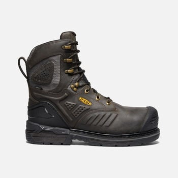 "Men's CSA Philadelphia+ 8"" Insulated Waterproof Boot (Carbon-Fibre Toe) in CASCADE BROWN/BLACK - large view."