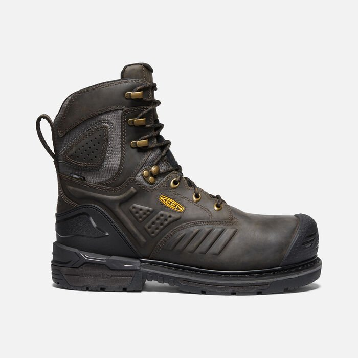 """Men's CSA Philadelphia+ 8"""" Insulated Waterproof Boot (Carbon-Fibre Toe) in CASCADE BROWN/BLACK - large view."""