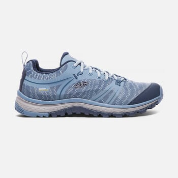 WOMEN'S TERRADORA WATERPROOF HIKING SHOES in Blue Shadow/Captains Blue - large view.