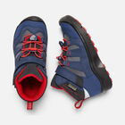 YOUNGER KIDS' HIKEPORT MID WATERPROOF HIKING BOOTS in Dress Blues/Fiery Red - small view.