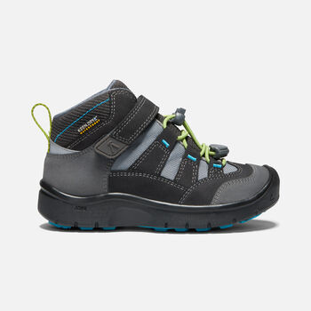 Younger Kids' Hikeport Mid Waterproof Hiking Boots in MAGNET/GREENERY - large view.