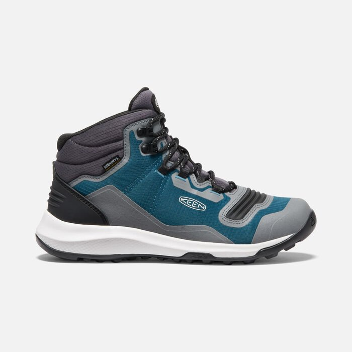 Women's Tempo Flex Waterproof Hiking Trainer Boots in Blue Coral/Star White - large view.