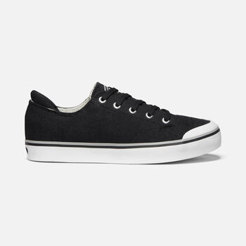 Women's Elsa III Casual Trainers in BLACK - large view.