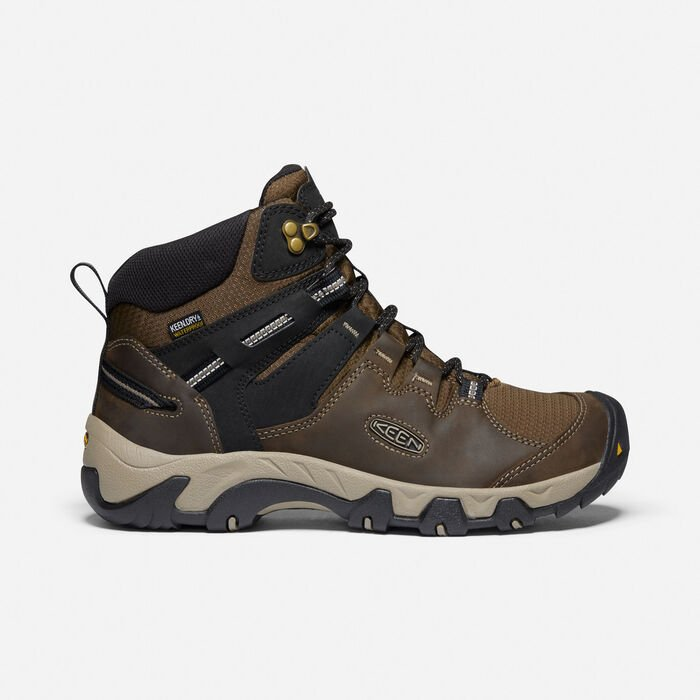 Men's Steens Leather Waterproof Boot in Canteen/Black - large view.