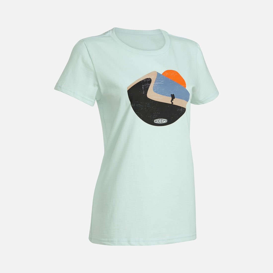 Women's Hike More Tee in Whispering Blue - large view.
