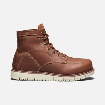 """Men's San Jose 6"""" Boot (Soft Toe) in GINGERBREAD/OFF WHITE - large view."""
