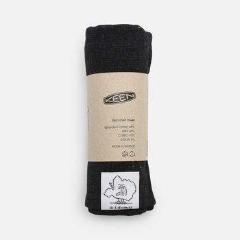 US 4 IRIOMOTEチャリティーECO TOWEL in Black - large view.