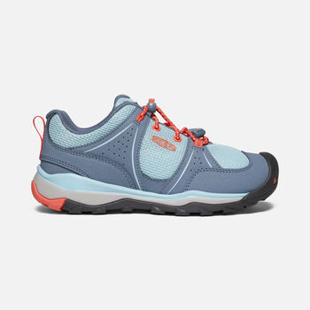 Older Kids' Terradora II Sport Hiking Trainers in Flint Stone/Coral - large view.