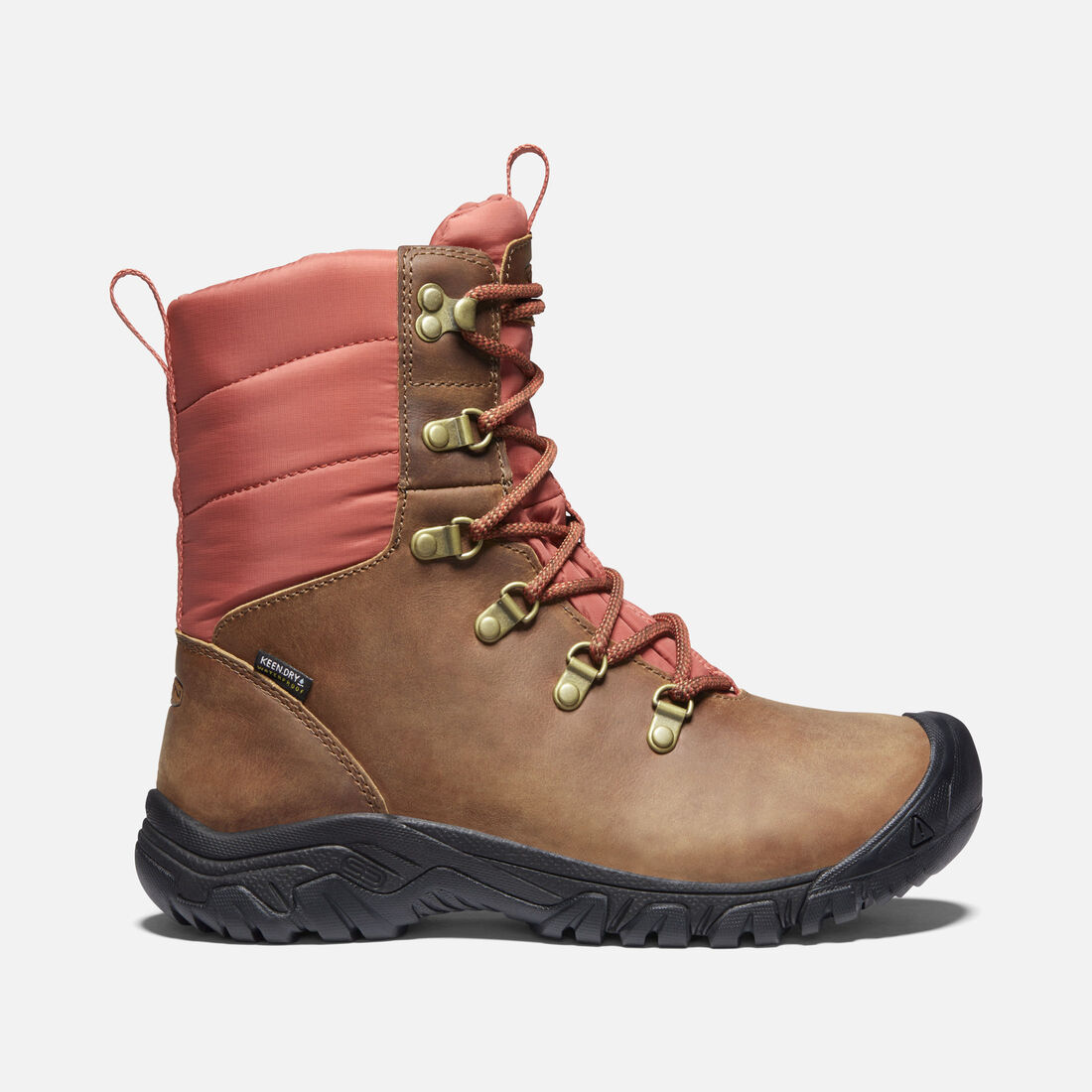 Women's Greta Waterproof Boot in Toasted Coconut/Redwood - large view.