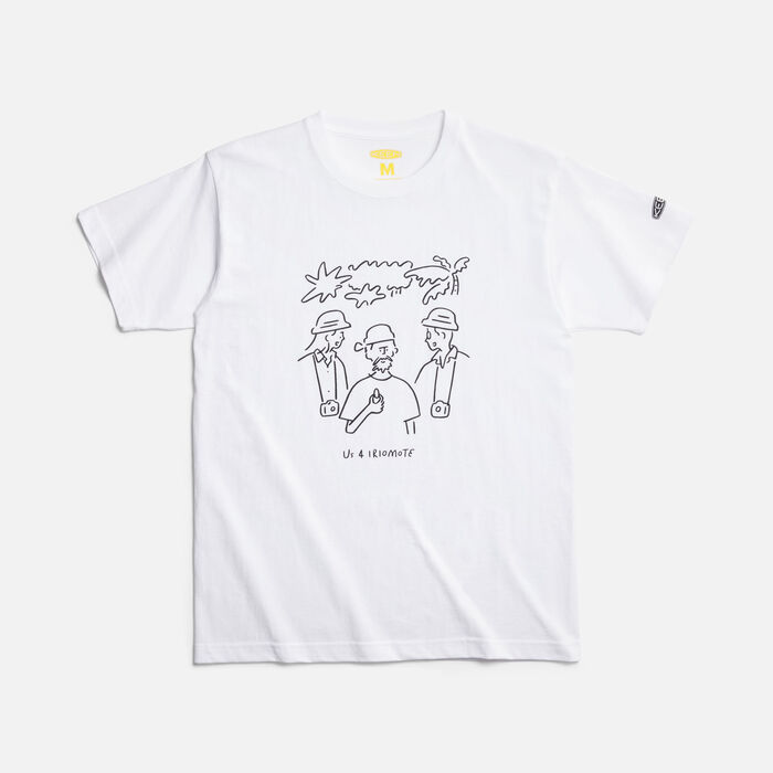 Us 4 IRIOMOTE チャリティTシャツ『話そう』 in WHITE - large view.