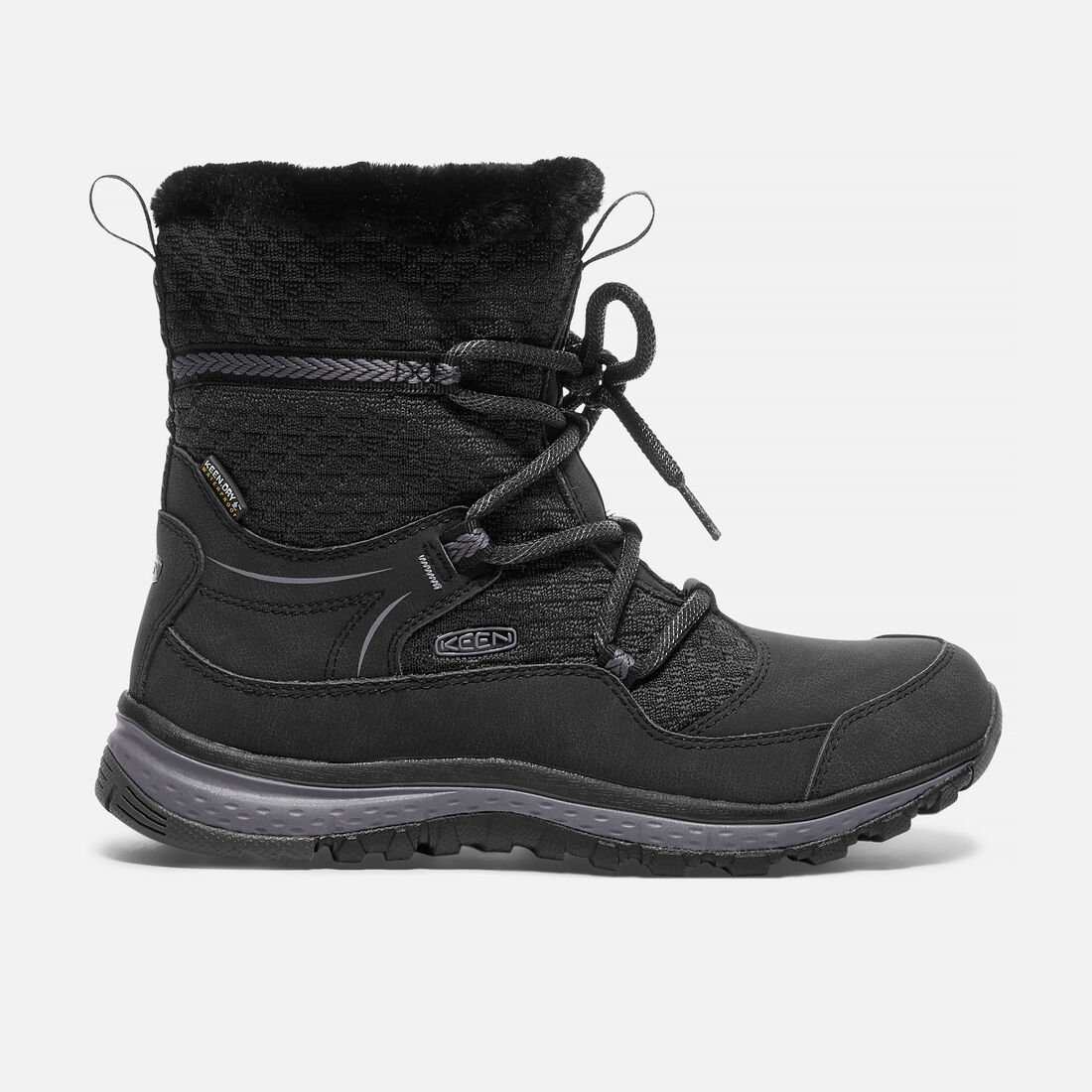 Women's TERRADORA APRÈS Waterproof Boot in Black/Magnet - large view.