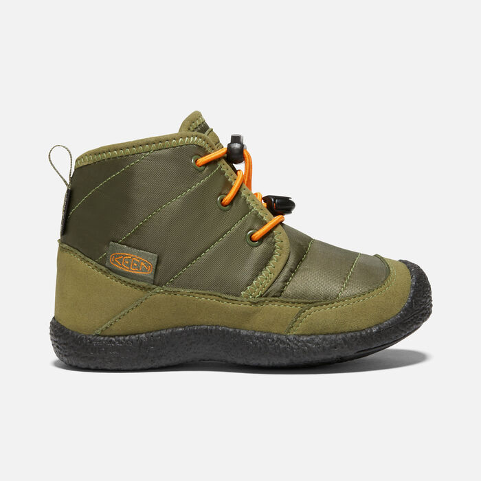 Younger Kids' Howser II Waterproof Chukka in Capulet Olive/Russet Orange - large view.