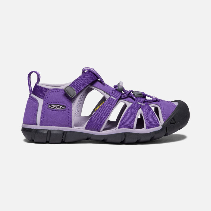 Older Kids' Seacamp II Cnx Sandals in Royal Purple/Lavender Gray - large view.